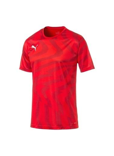 Puma Puma 70377501 Cup Jersey Core Kırmızı -Beyaz Erkek T-Shirt Kırmızı